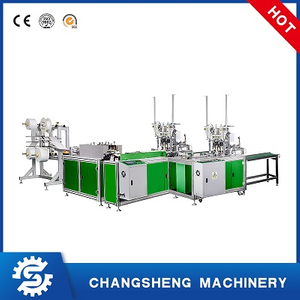 Automatic plane face mask machine production line