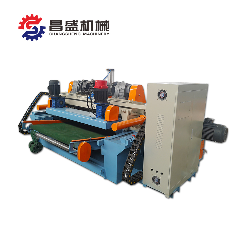 Veneer peeling machine more durable method