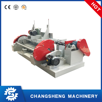 Small Wood Core Veneer Peeling Machine Spindle-less
